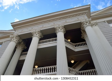 Historic building architecture background