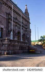 The historic building of the art museum built in 1904 in the city of Turku in Finland. The building of the museum in the style of Finnish romanticism on a summer day, the culture of Finland.