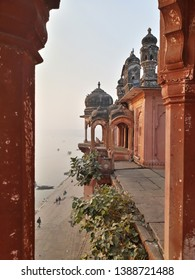 Historic Building at Assi Ghat, Kashi, Varanasi, Uttar Pradesh, India