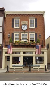historic building in Bar Harbor, Maine Usa