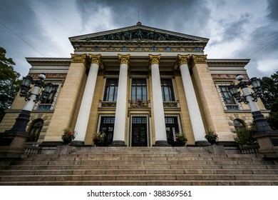 Historic building in Helsinki, Finland.