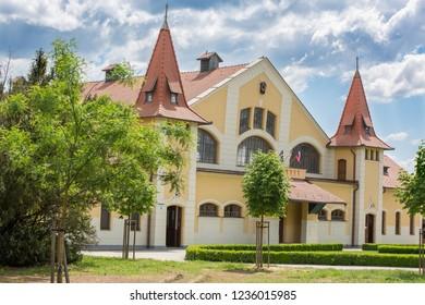 Historic building of national stud farm, Topolcianky, Slovak republic.