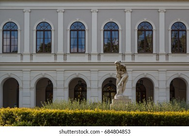 Historic building on the centre of Balatonfured town, Hungary