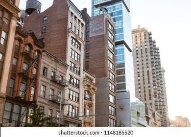 Historic buildings along 23rd Street in Manhattan New York City NYC