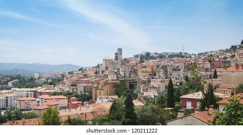 historic buildings in the centre of grasse an old industrial town famous for the production of perfumes in the south of france