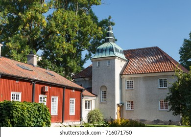 Historic buildings in the centre of Vasteras town, Sweden