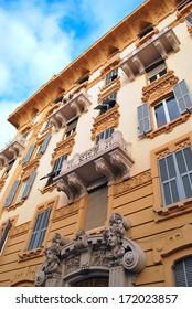 historic buildings in Genoa, Italy