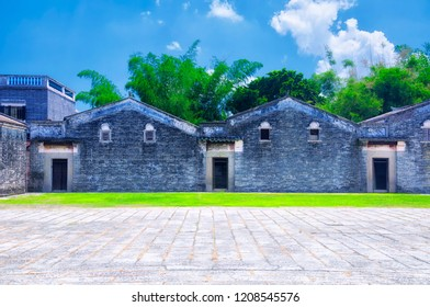 The historic buildings of Kaiping Diaoluo in Zili village in Kaiping China in Guangdong province on a sunny blue sky day.