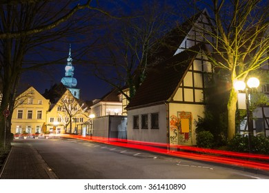historic buildings lippstadt germany in the evening
