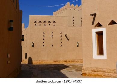 Historic buildings in the old city of Diriyah, an UNESCO World Heritage, near the capital Riyadh, Kingdom of Saudi Arabia