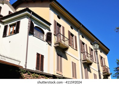 historic buildings in the old town of Acqui terme