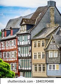 historische Gebäude in der Altstadt von Wetzlar in Deutschland