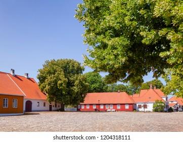 Historic buildings at  Staverns Fortress (Fredriksvern), Larvik, Vestfold, Norway