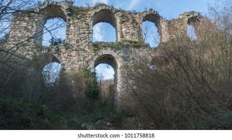 historic Byzantine walls, stranca forest