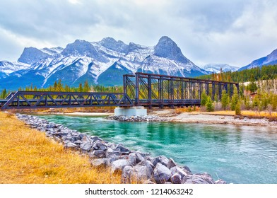 Historic Canmore Engine Bridge is a truss bridge over the Bow River in the Canadian Rockies of Alberta. The bridge was built by the Canadian Pacific Railway in 1891 to serve a coal mine.