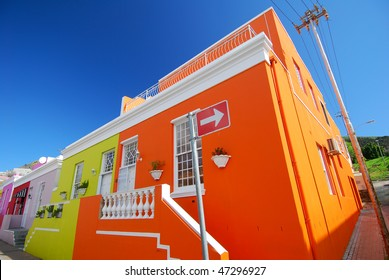 Historic Cape Town suburb in Bo-Kaap Malay Quarter
