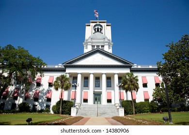 Historic Capital Building in Tallahassee Florida with the new Capital building in the background.