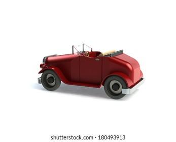 Historic car 3d background
