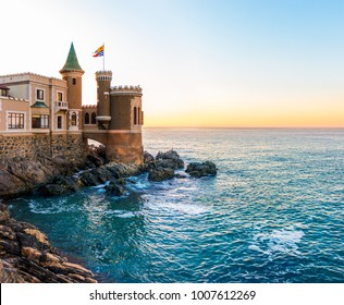A historic castle overlooking the sea in Vina del Mar, Chile