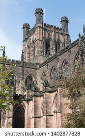 The historic Cathedral in Chester, England.