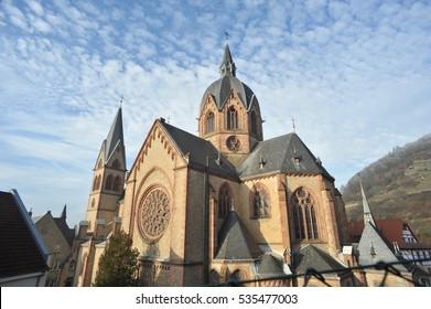 Historic Cathedral of Heppenheim Bergstrasse Hessen Germany