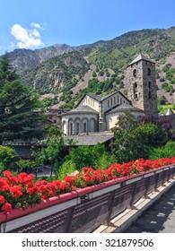 Historic center of Andorra La Vella, capital of Andorra.