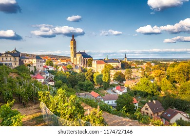 Historic center of Kutna Hora with Church of St James, Czech Republic, Europe.