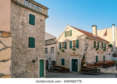 Historic center of the seaside resort town Vodice in Croatia