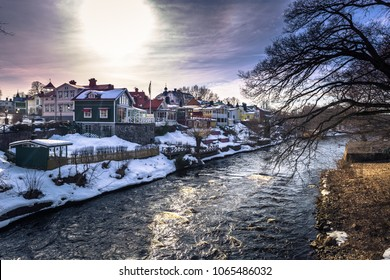 The historic center of the town of Gavle, Sweden
