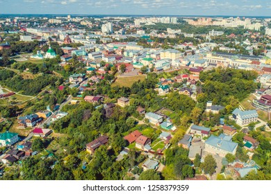 The historic center of Vladimir City, aerial view.