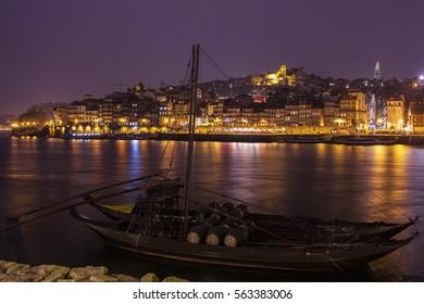 Historic Centre of Porto by Douro River. Porto, Norte, Portugal.