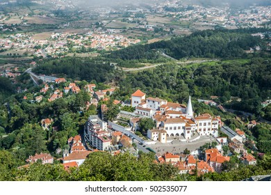 Historic Centre of Sintra, Portugal, with Sintra National Palace, as Seen from the Moors Castle