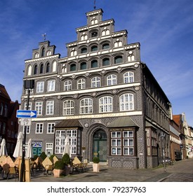 Historic chamber of commerce building, Lueneburg, near Hamburg, Germany