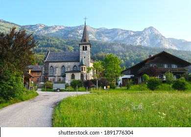 Historic chapel in Grundlsee, Austria