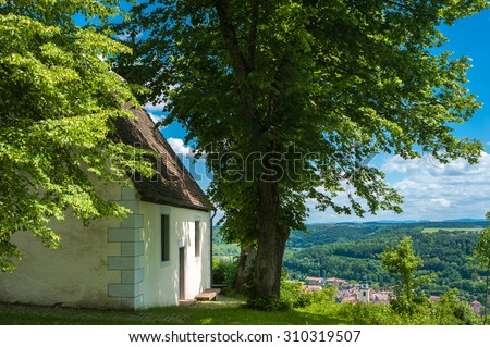 The historic chapel Ottilie in Horb on the Neckar. Black Forest, Baden-Wurttemberg, Germany, Europe