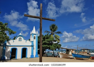 A historic chapel in Praia do Forte, Bahia, Brazil