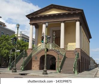 The historic Charleston City Market, established in 1807, in Charleston, South Carolina.