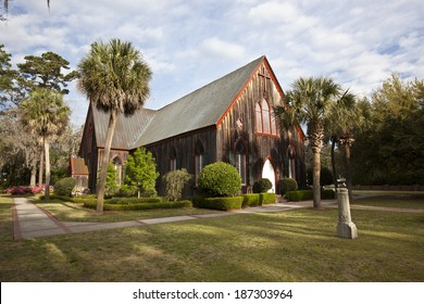 The historic Church of the Cross was built in Bluffton, South Carolina in 1854.  It remains a popular tourist attraction, while being an operating church.