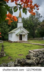 Historic church found at the leprosy colony on Molokai, Hawaii