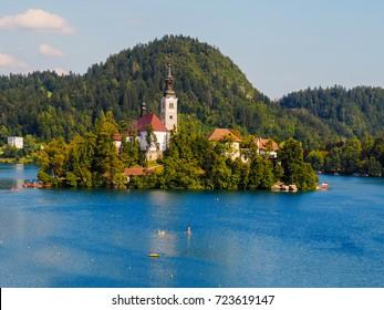 Historic church on Bled Lake