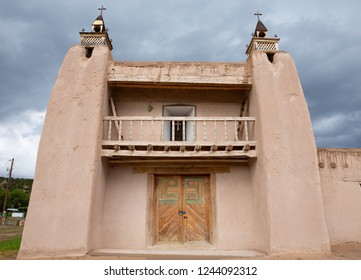 Historic Church San José de Gracia in Las Trampas, built 1760 in Spanish Colonial style, New Mexico, USA