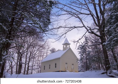 A historic church in Smoky Mtn Nat'l Park's Cades Cove