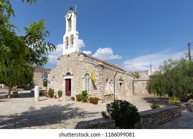 Historic church in the village Agii (Agioi) Deka on Crete, Greece