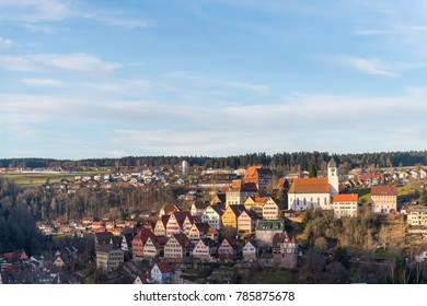 Historic city of Altensteig in the Black forrest , Germany