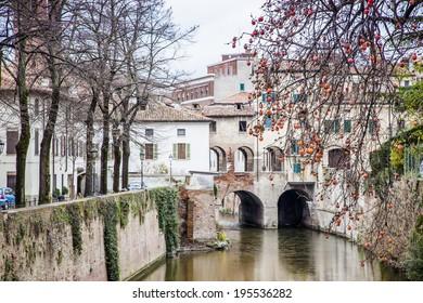 The historic city center of Mantova (Italy)