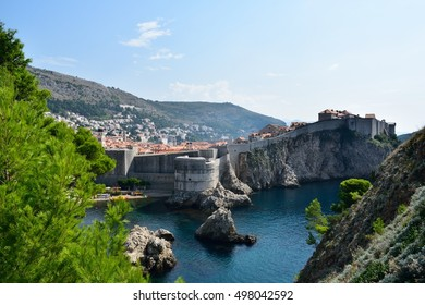 The historic city of Dubrovnik, Croatia from the town's fort