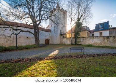 Historic city gate of Naumburg in Germany
