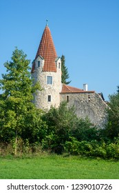 Historic city gate tower of Abensberg (Bavaria, Germany)
