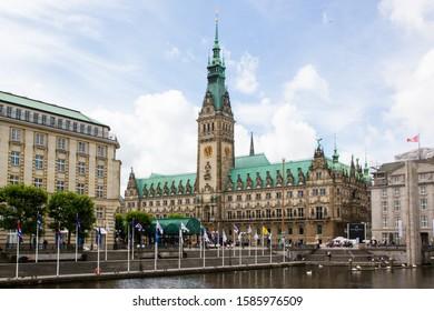historic city hall of the city of Hamburg near the harbor in Germany
