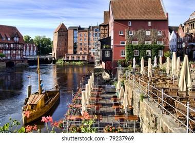 Historic city of Lueneburg, near Hamburg, Germany